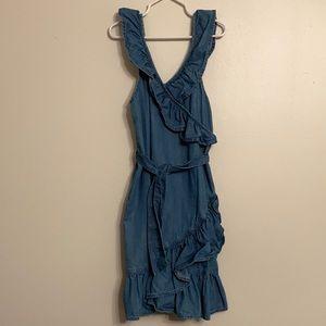 "GAP Girls Ruffle Detail Lyocell ""Denim"" Dress"